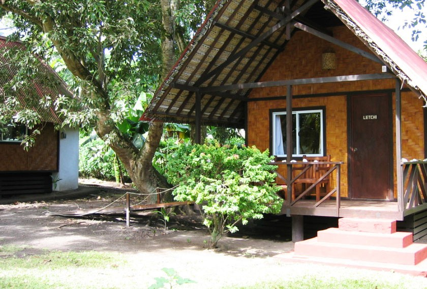 Bungalow at the guest house Fare Vaihere on Moorea island