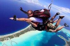 Skydiving in Bora Bora