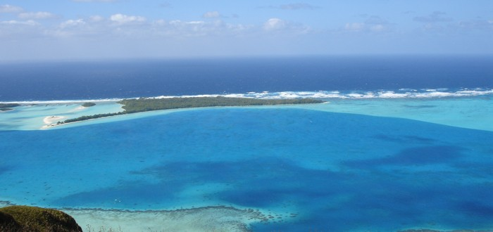 Thousand shades of blue in the Austral islands