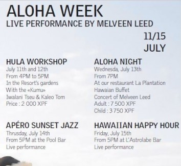 Aloha week in Tahiti