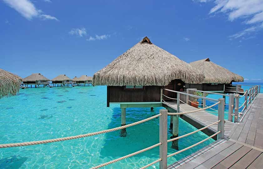 Overwater Bungalow at the Hilton Moorea