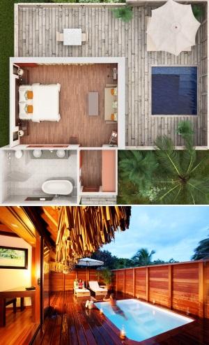 Hotel hilton moorea lagoon resort spa moorea for Garden pool bungalow hilton moorea