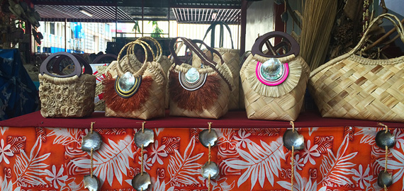 Handbags crafted available at the Papeete Market
